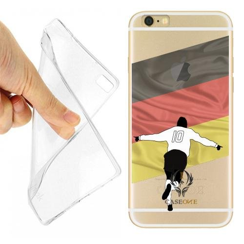 Caseone linea top CUSTODIA COVER CASE CALCIATORE GERMANIA PER IPHONE 6 TRASPARENTE