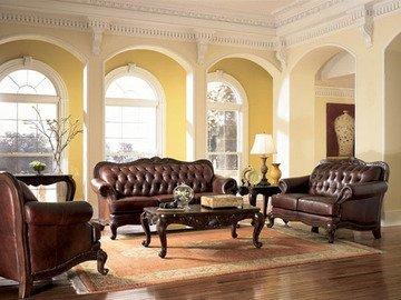 Coaster Victiora 3 Pce Tri Tone Leather Set Sofa Loveseat - Leather Loveseat Tone Tri