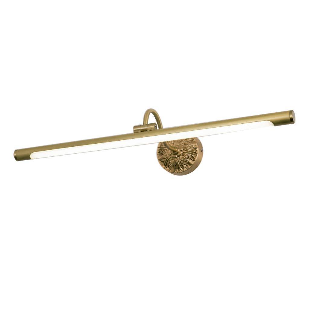 MIAOLIDP Volles kupfernes amerikanisches Spiegelscheinwerferbadezimmerbadezimmer Schminktischlampe (Farbe   Bronze-1, Größe   58CM 13W)