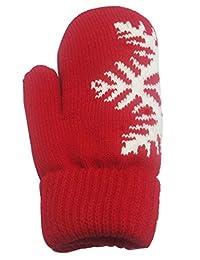Female Christmas Snowflake Gloves Warm Thicken,2