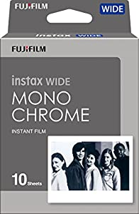 Fujifilm Instax Wide Monochrome Film, White (16564101)