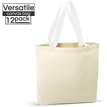 78f9159fe5a 12 Pack Canvas Tote Bags – Design Your Own Party Favor Pack Tote Canvas Bags  by Big Mo s Toys