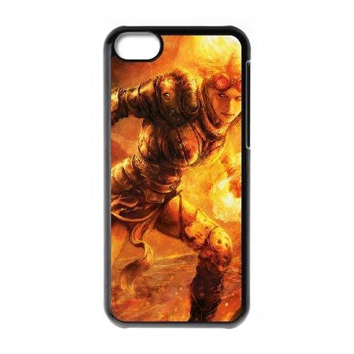 I0L39 flamme fille jetant cas de téléphone J3R1BW coque iPhone 5c cellulaire couvercle coque noire RW4CNP6LJ