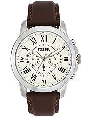 Fossil Leather Mens Quartz Watch
