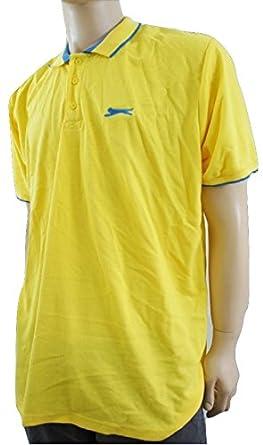 Slazenger - Polo - Básico - para Hombre Amarillo Yellow/Blue XX ...