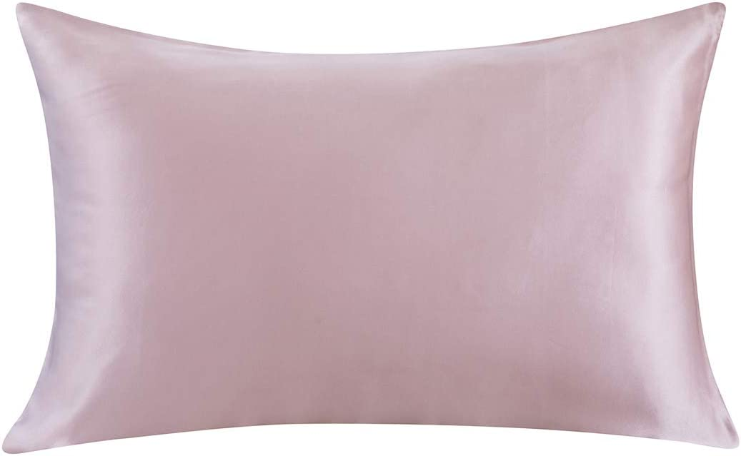 ZIMASILK 100% Mulberry Silk Pillowcase for Hair and Skin,Both Side 19 Momme Silk, 1pc (Queen 20''x30'', Light Plum)