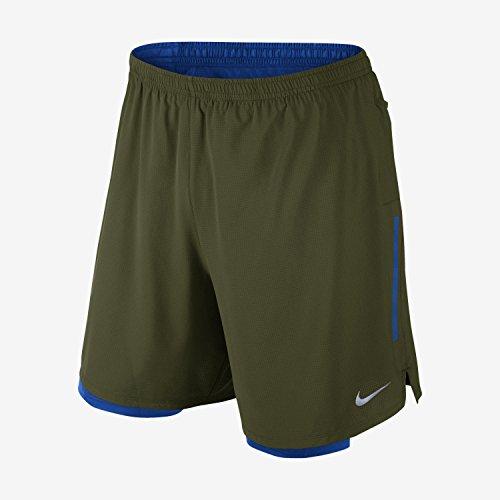 NIKE Mens 7 Phenom 2 In 1 Running Shorts 827882-331 Large