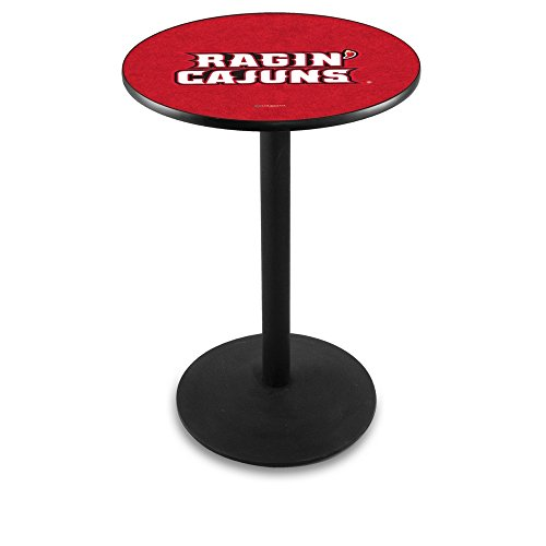 "Holland Bar Stool L214B University of Louisiana At Lafayette Officially Licensed Pub Table, 28"" x 42"", Black"
