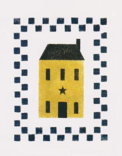 (OutletBestSelling Stencil Primitive Tall Saltbox House Overlay Checks Border Crafts Signs)
