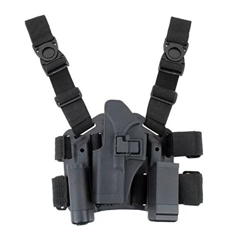 (JahyShow Tactical Right Hand Paddle & Leg Belt Drop Leg Holster for Glock 17/19/22/23/31/32)
