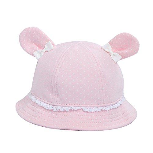 Rose Chapeau De Mignon Pêcheur Acvip soleil En Coton Unisexe Bébé Oreille 4EnqxZwSvP