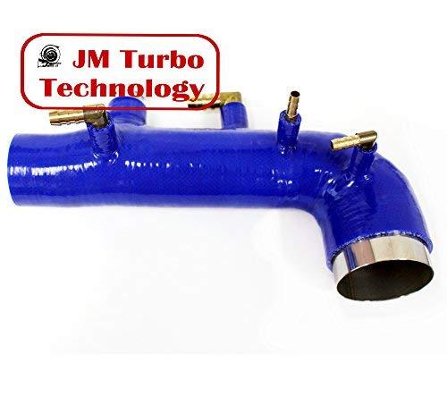 - JM Turbo For 02-04 Subaru Wrx Sti Ej20 Ej25 Turbo Intake Inlet Silicone Blue New