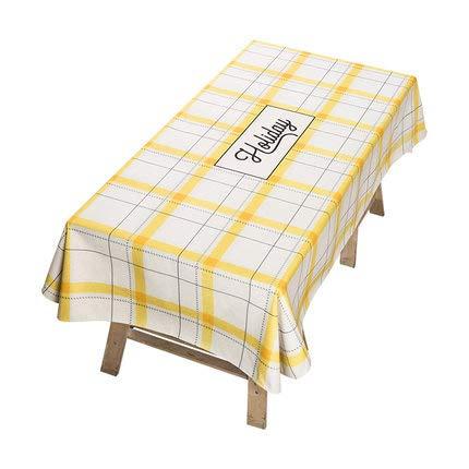 bajo precio amarillo 140180CM Xhh Xhh Xhh Mantel de Tela nórdico Rectangular Mesa de café paño Simple Mantel Mantel Toalla Cubierta Personalizada Mantel (Color   amarillo, Talla   140  180CM)  barato y de alta calidad