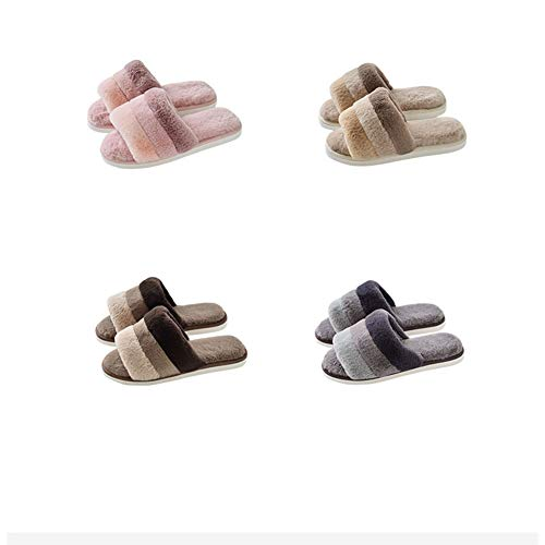 Paire Yangyongli Belle Fluff 39 Ouverture Intérieur Coton Antidérapante En Rose Maison 40 Épaisse Bas Chaussures Pantoufles qzwCrIz