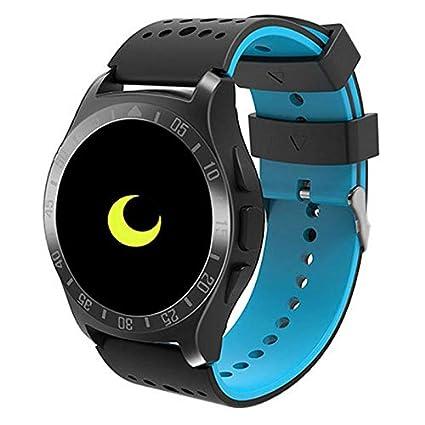 TEEPAO Reloj Inteligente Impermeable para Android y iPhone KY009, Monitor de presión Arterial, podómetro