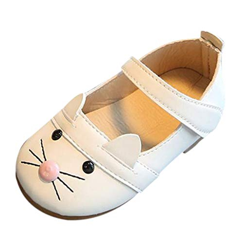Infant Toddler Baby Soft Sole Tassel Kids Baby Girl Fashion Princess Cat Dance Nubuck Leather Single Shoes White