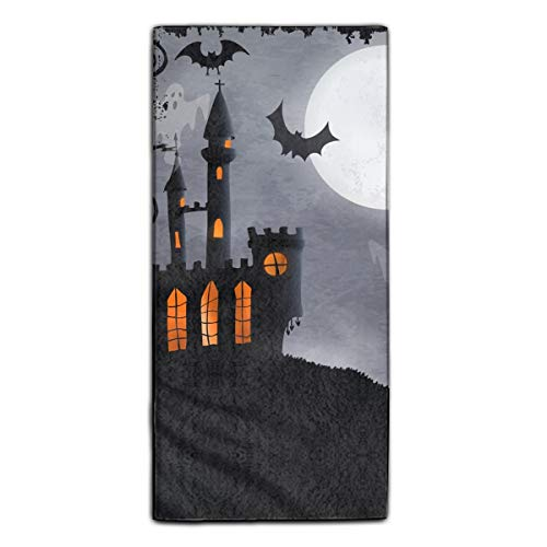 Spooky Halloween Castle Printed Kitchen Towels/Microfiber Cleaning Cloth/Tea Towels/Dish Rags,Multipurpose for Kitchen,Drawing Room,Bathroom and Car]()
