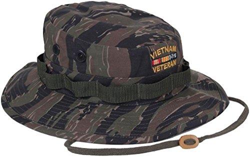 Tiger Stripe Camouflage Vietnam Veteran Military Boonie Hat (Vietnam Veterans Stripe)