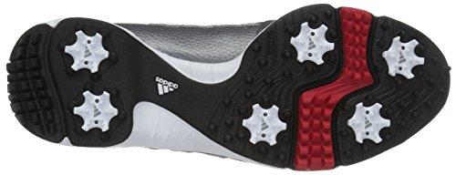 adidas Men's Tech Response Golf Shoe, Iron Metallic/White, 12.5 W US