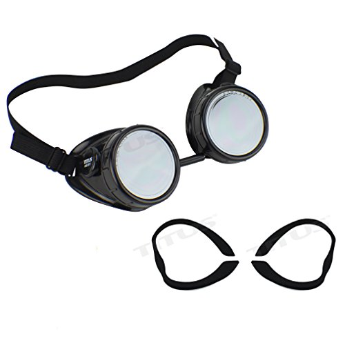 Titus Sports Riders Steampunk Safety Goggles Motorcycle Strap Eye Protection (Standard, w/ - Sunglass Coupon Rage