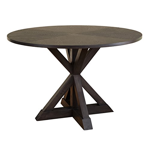 Table - Grey - Grey Finish Table Trestle Dining Room Style Furniture Country Kitchen Oak Svitlife ()