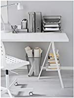 Ikea Dokument Magazine File Set of 2 Silver 301.532.56