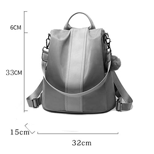 color Backpack Leather Soft Khaki Pu Blue Casual Wild Korean theft One Ladies shoulder Fashion Tide Personality Anti 488UpSq6