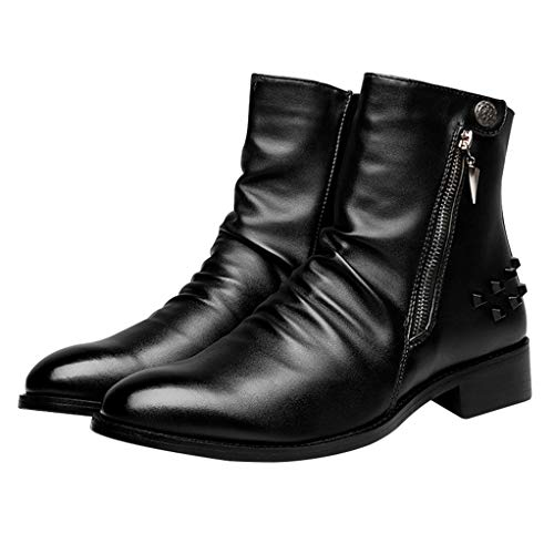Giles Jones Motorcycle Boots for Men Autumn Winter High-Cut Comfort Combat Boots ()
