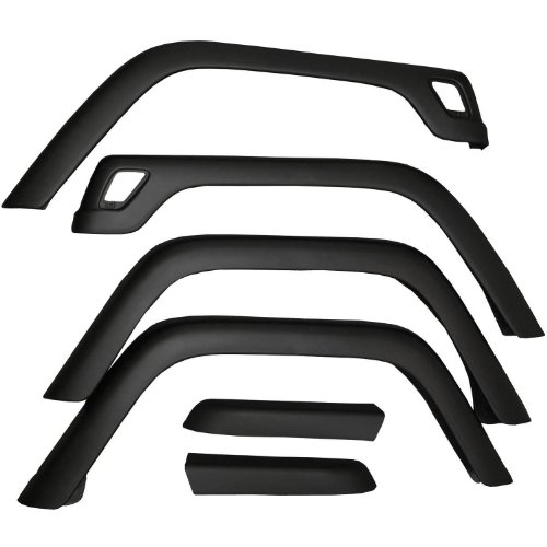 Rugged Ridge 11603.01 Factory Style Fender Flare Kit for 1997-2006 Jeep Wrangler TJ Models, Pack of 6