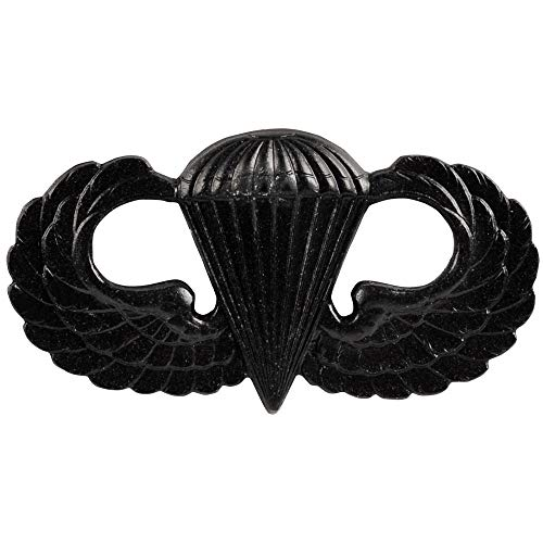 Medals of America Army Parachute Badge Black Finish Regulation Size Full Size