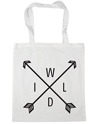 HippoWarehouse Wild flechas Tote Compras Bolsa de playa 42cm x38cm, 10litros blanco