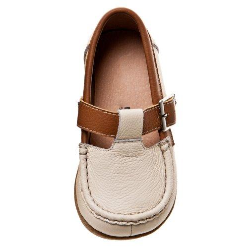 HLT Toddler/Little Kid T-Strap Buckle Closure Brown Dress/Uniform Shoe [US 10 / EU 27]