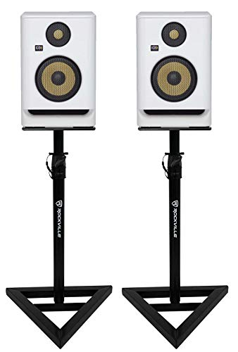 "(2) KRK ROKIT RP5 G4 5"" Studio Monitor DSP Speakers White Noise Edition+Stands"