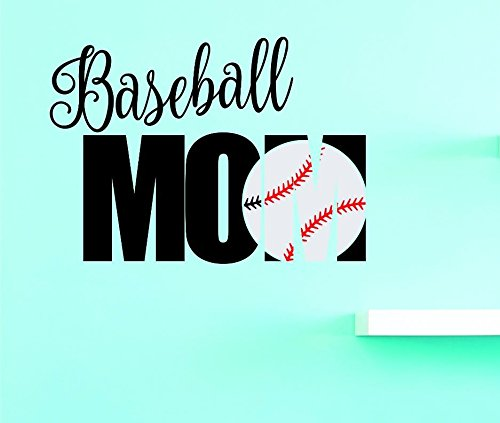Design with Vinyl US V JER 4017 1 Top Selling Decals Baseball Mom Wall Art Size 10 Inches X 20 Inches Color Multi 10 x 20