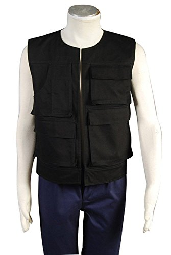 Han In Carbonite Costume (Men's ANH A New Hope Han Solo Vest Cosplay Costume (Men:X-Small, As shown))
