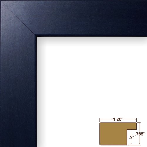 Craig Frames 26025 20 by 30-Inch Picture Frame, Smooth Wrap Finish, 1.26-Inch Wide, Blue