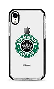 Stylizedd Apple iphone XR Cover Impact Pro Black Military Grade Dual Layer Case - Starwars Coffee