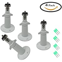Arlo Outdoor Security Mount Designed for Arlo and Arlo Pro Cameras ( 4Pack - Metal,White )