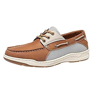 CAMEL CROWN Men's 3-Eye Boat Shoe Loafer Driving Shoes for Male Business Work Office Dress Outdoor Casual Brown