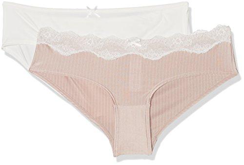 Dorina D17264F4-2P, Bragas Para Mujer, Pack de 2 Multicolor (Blush Stripe/Ivory)