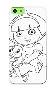 36f4b1d3936 New Premium Flip Case Cover Coloring Page Dora The Explorer Color Hq Skin Case For Iphone 5c As Christmas's Gift