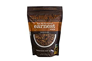 Earnest Eats Vegan Hot Cereal with Superfood Grains, Quinoa, Oats and Amaranth, Mayan Blend, 12.6 Oz (Pack of 3)