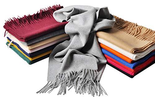 32cm Des Beaucoup Foulard foulard 11 châle Pashmina Couleurs Elégante 180cm Luxe 70 Wine Écharpe Choix Unicolore etole Mijiu De Glands