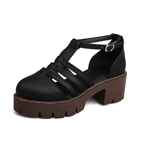 BalaMasa Womens Sandals Closed-Toe Cold Lining Urethane Sandals ASL04451 Black udmALNE