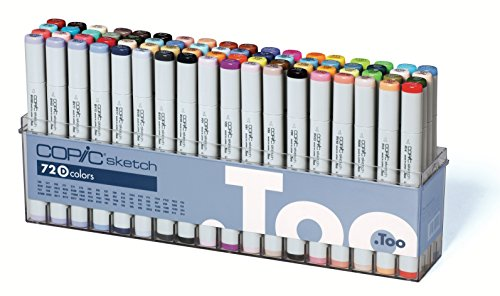 Copic Sketch Marker 72 Color Set D by Copic Marker