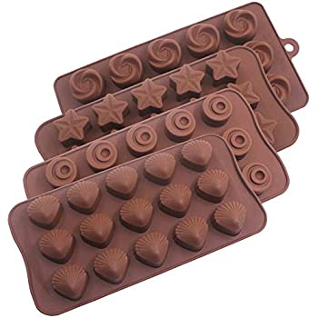 4 Pack Silicone Candy Molds,YuCool Silicone Molds For Fat Bombs Candy Molds Silicone Chocolate Molds Silicon Molds Candy Mold Silicon Mold Hard Candy Molds ...