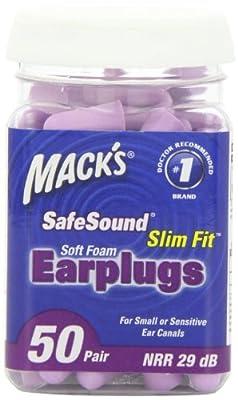 Mack's Ear Care Slim Fit Soft Foam Earplugs, 50 Count
