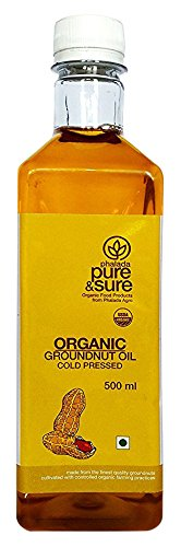 Pure & Sure Organic Groundnut Oil, 500ml
