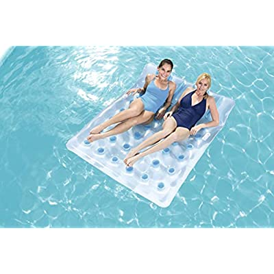 H2OGO! Double Beach Bed Inflatable Pool Float: Toys & Games