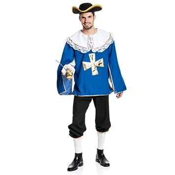Kostumplanet Musketier Kostum Herren Mit Spitzkragen Karnevals